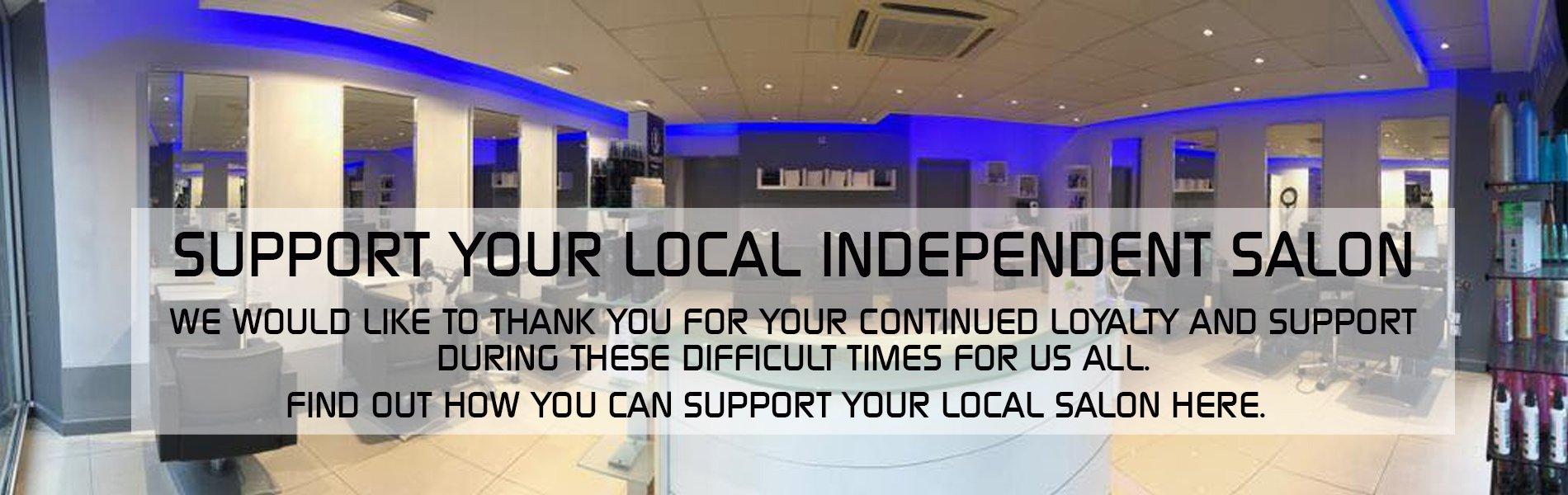 support your local salon kevin joseph hairdressers Uxbridge